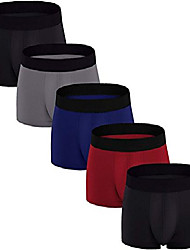 cheap -men's boxer briefs 5 pack no ride-up breathable comfortable cotton sport underwear