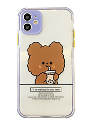 cheap -Case For Apple iPhone 11 / iPhone 11 Pro Max / iPhone XR Shockproof Back Cover Animal TPU
