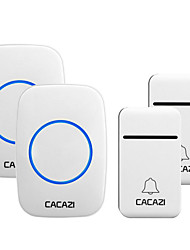 cheap -CACAZI No Battery Required Home Wireless Doorbell Self-Powered 200M Remote Waterproof Calling Bell 2 Button 2 Receiver