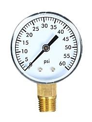 cheap -060psi Mechanical Pressure Gauge Pool Filter Aquarium Water Air Pressure Gauge Meter with 50mm Dial 1/4 inch NPT Bottom Mount