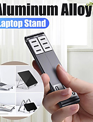cheap -Magic Foldable Notebook Mobile Phone Tablet Holder DeskLaptop Stand for Mac Book Portable Foldable Aluminium Alloy Laptop Holder Bracket for PC iPad2020 Phone