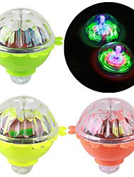 cheap -3pcs Rotating Flash Gyro Glow in the dark Toy Friction Nostalgic light-up led Lamp Colorful Spinning kids Lumino