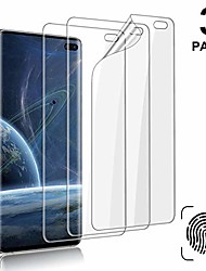 cheap -[3-pack] galaxy s10 plus screen protector, compatible fingerprint, self healing, anti-bubble,ultra-thin clear hd tpu protective film, for samsung galaxy s10 plus / s10+
