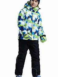 cheap -Boys' Girls' Hoodie Jacket Ski Jacket Ski / Snowboard Thermal Warm Waterproof Windproof Polyester Coat Top Ski Wear / Kid's / Winter / Breathable