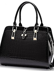 cheap -women's tote top handle handbags crocodile pattern leather cross-body purse shoulder bags (watermelon red)