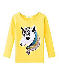 cheap -girls unicorn shirts long sleeve flip sequin t-shirt tops