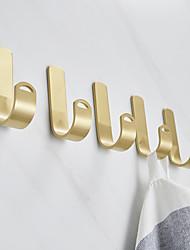 cheap -Brass Robe Hook Creative Metal 5pcs - Bathroom / Hotel bath Wall Mounted