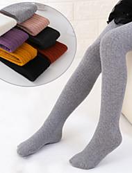 cheap -Kids Toddler Girls' Underwear & Socks White Purple Red Black White Jacquard Solid Colored