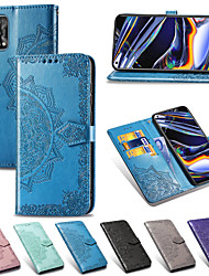 cheap -Case For OPPO Oppo Reno 4 / Reno 4 5G / Reno 4 Pro 5G Card Holder / Shockproof / Flip Full Body Cases Flower PU Leather