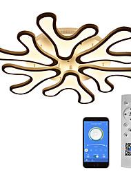 cheap -4 6 12 Heads LED Ceiling Light Antlers Design Deer Light Black White APP Control with Remote Control or OFF ON Control Three Color Ceiling Lamp Acrylic Ceiling Panel Lamp Livingroom Bedroom AC220V