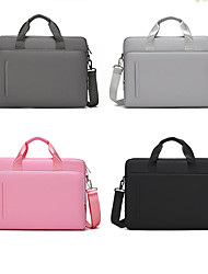 cheap -13.3 Inch Laptop / 14 Inch Laptop / 15.6 Inch Laptop Sleeve / Shoulder Messenger Bag / Briefcase Handbags Oxford Fabric Solid Colored / Textured for Men for Women for Business Office Waterpoof Shock