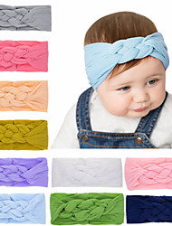 cheap -1pcs Toddler / Infant Girls' Sweet White / Blue Solid Colored Pure Color Nylon Hair Accessories White / Purple / Yellow One-Size