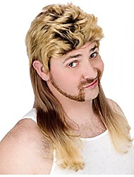 cheap -super mullet wig costume accessory
