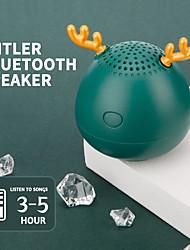 cheap -Cute Antlers Speakers Bluetooth Speaker Christmas Gift Mini Wireless Speaker TF Card USB Subwoofer Portable MP3 Music