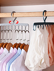 cheap -2PCS Nine Hole Magic Hanger Household Space Saving Artifact Dormitory Student Clothes Rack Organizer
