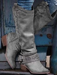cheap -50% off-last day promotion women's vintage western woven hollow craft multicolor boots - us 8 / gray