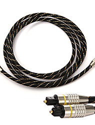 cheap -1/2/3 meters OD6.0 Toslink Male to Male Optical Fiber Audio Cable Braided Toslink Cable Replacement for 360 PS3 PS4 Laptop