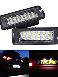 cheap -2Pcs 5W 12V 6500K  LED License Number Plate Light lamps For Golf MK4 MK5 MK6 Passat Polo CC Eos SciroccoLicense Number Plate