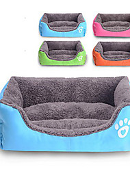 cheap -Dog Rabbits Cat Bed Sleeping Bag Cuddle Cave Bed Mats & Pads Plush Fabric Plush Solid Colored Red Blue Pink