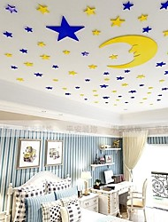 cheap -Starry Sky Wall Stickers Kids Room & kindergarten, Removable Acrylic Home Decoration Wall Decal