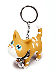 cheap -cat kitten keyrings key chains for car keys kawaii adorable bag pendant toy,gift idea for girls, women and men