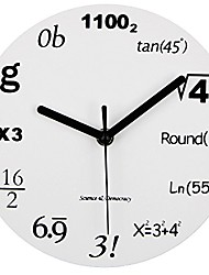 "cheap -math clock, unique wall clock modern design novelty maths equation clock - each hour marked by a simple math equation (12""(30cm))"