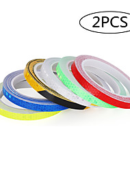 cheap -2PC Vinyl Motorcycle Rim Tape Reflective Wheel Stickers Decals Car Warning Stickers Motorbike Styling Decor Tool Accessories