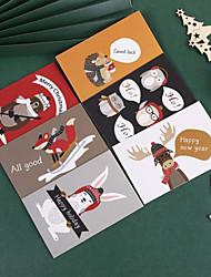 cheap -6pcs Christmas Decorations Christmas Ornaments Cards 16*10.5 cm