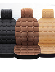cheap -Universal Fabric Car Front Rear Seat Covers Plush Black Fur Interior Accessories Cushion Styling Winter Pad Seat Cover
