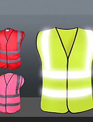cheap -Reflective Vest Safety Vest Running Gear Breathable Durable Class 2 High Visibility Reflective Strip Portable Lightweight Comfy Versatile for Running Cycling / Bike Jogging Dog Walking Men Women