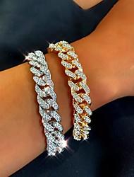 cheap -Women's Bracelet Cuban Link Wave Fashion Trendy Alloy Bracelet Jewelry Gold / Silver For Party Evening Birthday