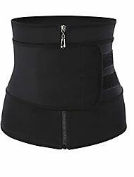 cheap -women waist trainer cincher belt tummy control sweat girdle workout slim belly band for weight loss black