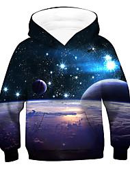 cheap -Kids Boys' Hoodie & Sweatshirt Long Sleeve 3D Drawstring Blue Children Tops Active Children's Day