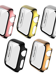 cheap -Cases For Apple Watch Series 6 / SE / 5/4 44mm / Apple Watch Series  6 / SE / 5/4 40mm Plastic / Tempered Glass Compatibility Apple iWatch