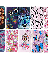 cheap -Phone Case For Apple Full Body Case Leather Wallet Card iPhone 12 Pro Max 11 SE 2020 X XR XS Max 8 7 6 Wallet Card Holder Shockproof Word / Phrase Butterfly Animal PU Leather