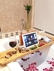 cheap -Bath Caddies Bathtub Rack Bamboo for Bathroom Storage Bathtub Rack Multifunctional Bath Red Wine Mobile Phone Holder Bathroom Tub Bathtub Rack - 1 pc