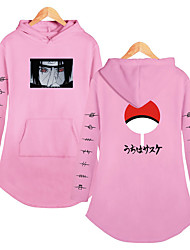 cheap -Inspired by Naruto Cosplay Akatsuki Uchiha Itachi Dress Hoodie Polyester / Cotton Blend Print Printing Dress For Women's