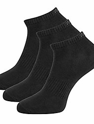 cheap -men's 3-pack black anti-odor sweat wicking no-show sports socks