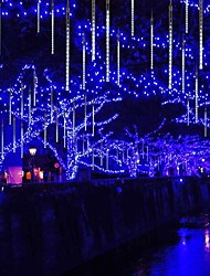 cheap -Falling Rain Lights Meteor Shower Lights Christmas Lights 30cm 24 Tube 432LEDs Falling Rain Drop Icicle String Lights For Christmas Trees Halloween Decoration Holiday Wedding