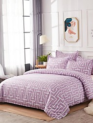 cheap -Geometric Print 3-Piece Duvet Cover Set Hotel Bedding Sets Comforter Cover with Soft Lightweight Microfiber ,Full/Queen/King(Include 1 Duvet Cover and 1or 2 Pillowcases)