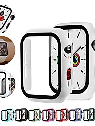 cheap -Cases For Apple Watch Series 6 / SE / 5/4 44mm / Apple Watch Series  6 / SE / 5/4 40mm / Apple Watch Series  3/2/1 38mm Silicone / Tempered Glass Compatibility Apple iWatch