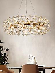 cheap -60 cm Crystal Chandelier Luxury Gold Pendant Light Modern Fashion Metal Electroplated Modern 110-120V 220-240V