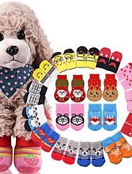 cheap -Cat Dog Boots / Shoes For Pets Cotton Random Color / Winter
