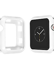 cheap -for apple watch case 38mm, soft frosted tpu slim shock-proof and shatter-resistant protector bumper iwatch case for apple watch series 3, series 2, series 1 (white, 38mm)