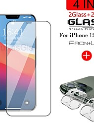 cheap -4-in-1 3D Lens  Tempered Glass For iPhnoe 12 12 Max Screen Protector Glass On iPhone 12 Pro Max 11 Pro Max 11 Pro Protective Glass