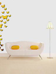 cheap -Butterfly Shapes Wall Stickers Mirror Wall Stickers Decorative Wall Stickers Acrylic Home Decoration Wall Decal Wall Decoration 25pcs