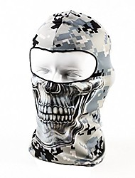 cheap -balaclava tactical skull motorcycle full face ski mask, thin breathing windproof uv protective hat for women men
