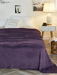 cheap -Solid Colored Skin-friendly Warmer Soft Comfy Blankets / Bed Blankets / Sofa Throw / Multifunctional Blankets