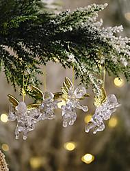 cheap -4pcs Pack Christmas Decorations Transparent Angel Pendant Creative New Little Angel Pendant Christmas Tree Ornaments