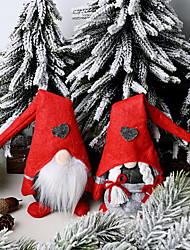 cheap -Christmas Ornaments For The Elderly In The Forest Love Standing Doll Small Doll Faceless Doll Ornaments